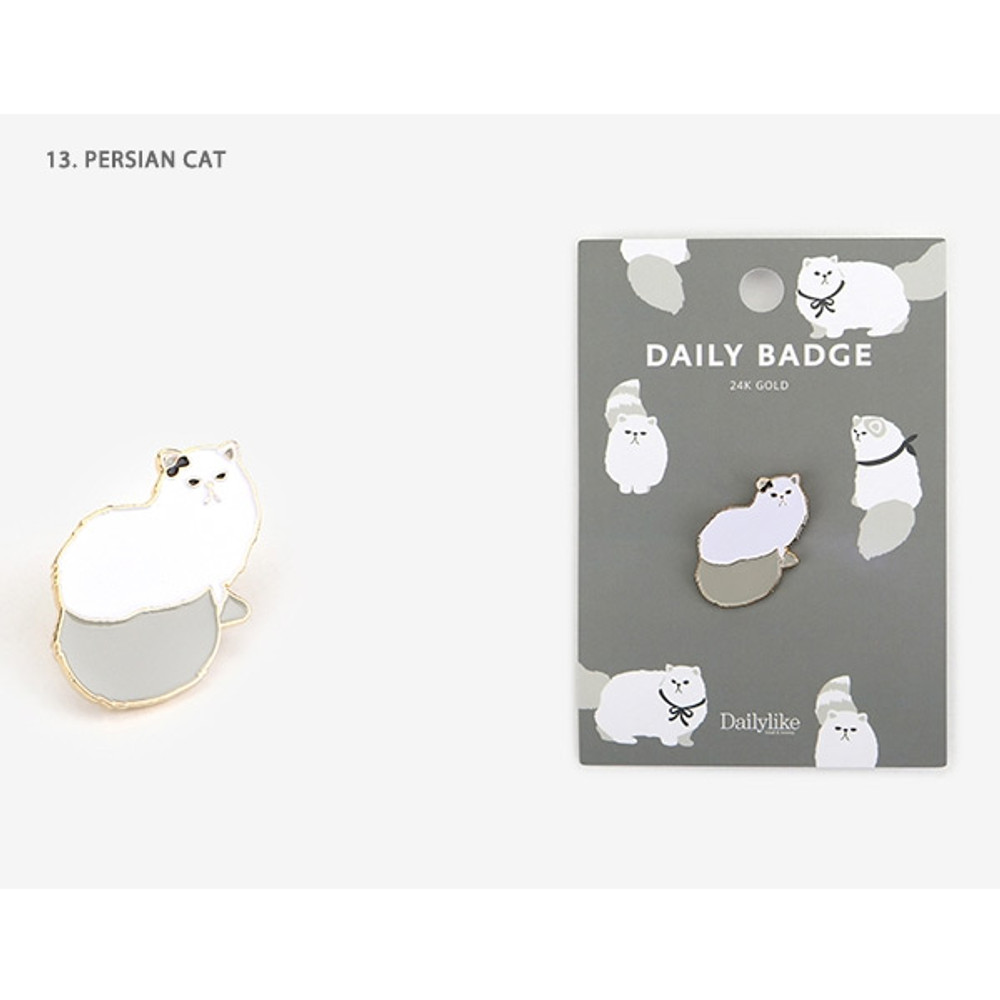 13 Persian cat - Dailylike Daily 24k gold plated badge