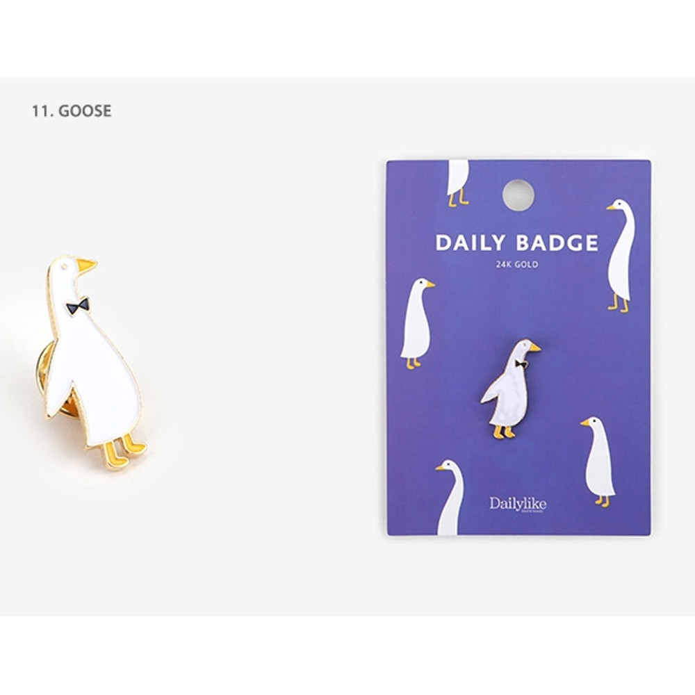 11 Goose - Dailylike Daily 24k gold plated badge