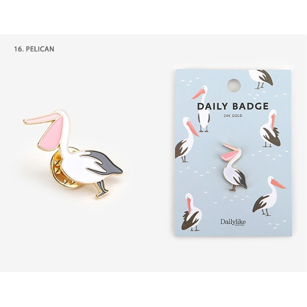 16 Pelican - Dailylike Daily 24k gold plated badge