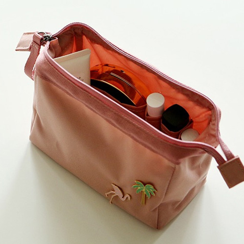 Pink - Dailylike Daily standing beauty cosmetic makeup pouch