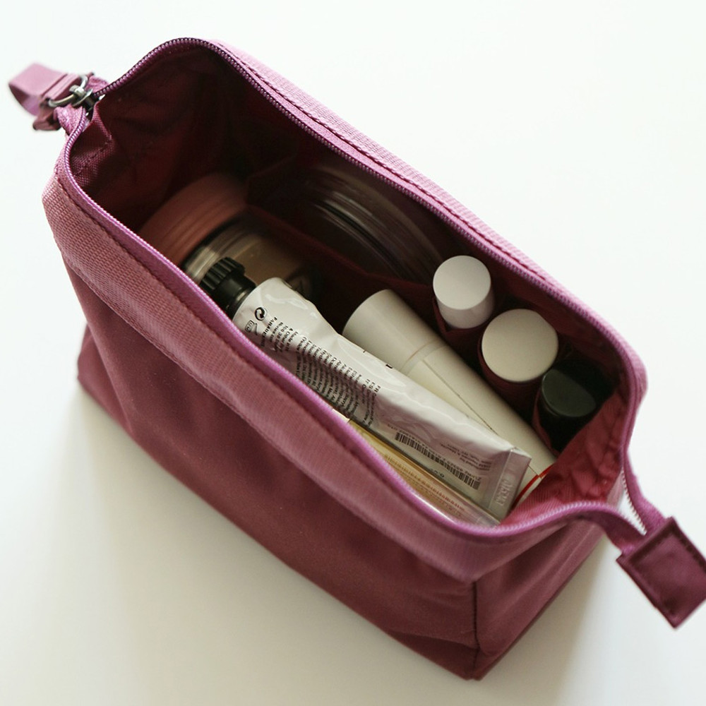 Wine - Dailylike Daily standing beauty cosmetic makeup pouch