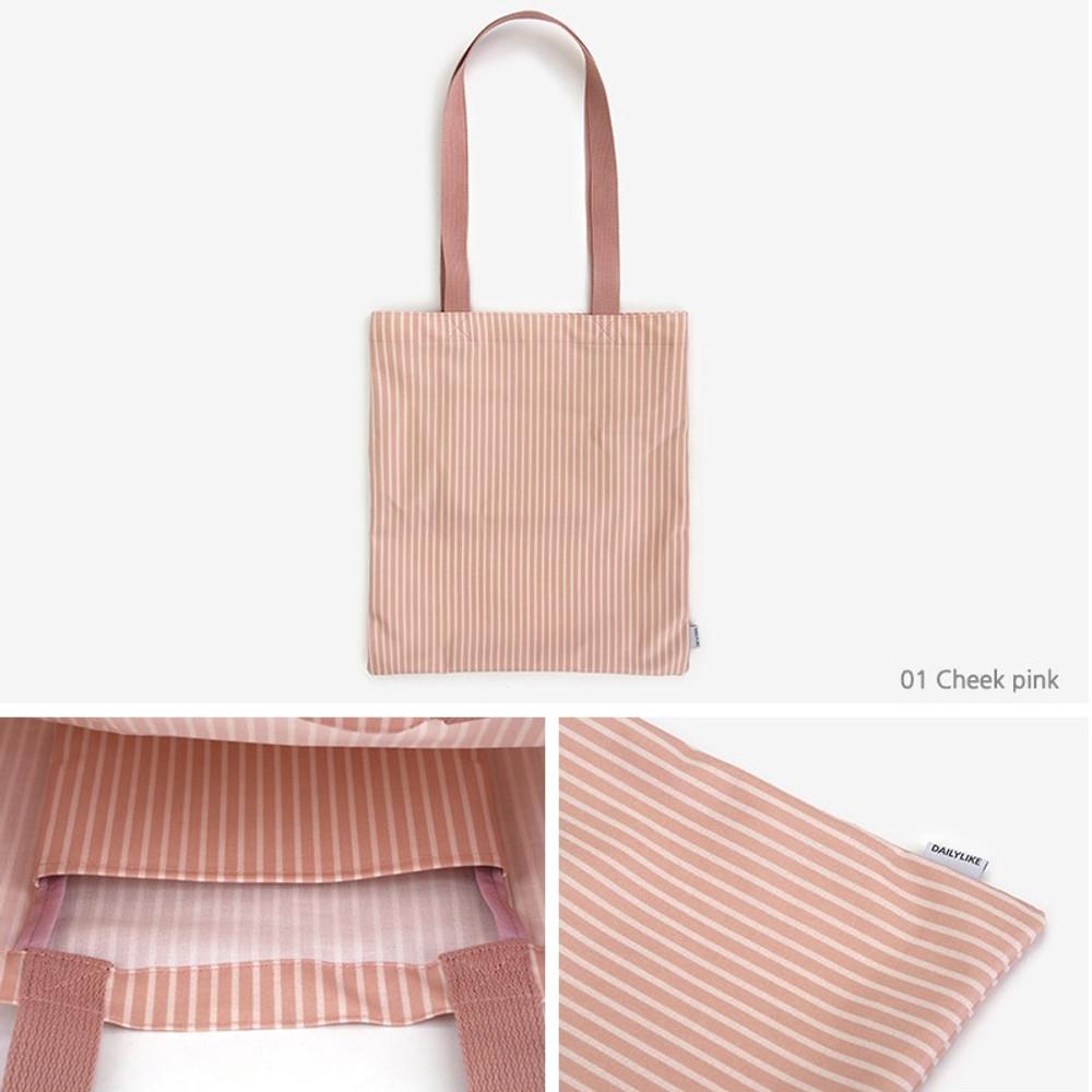 01 Cheek pink - Dailylike Laminate fabric tote shoulder bag