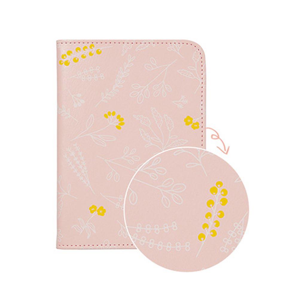 Pink garden - Antenna shop Weekade botanical travel passport holder case
