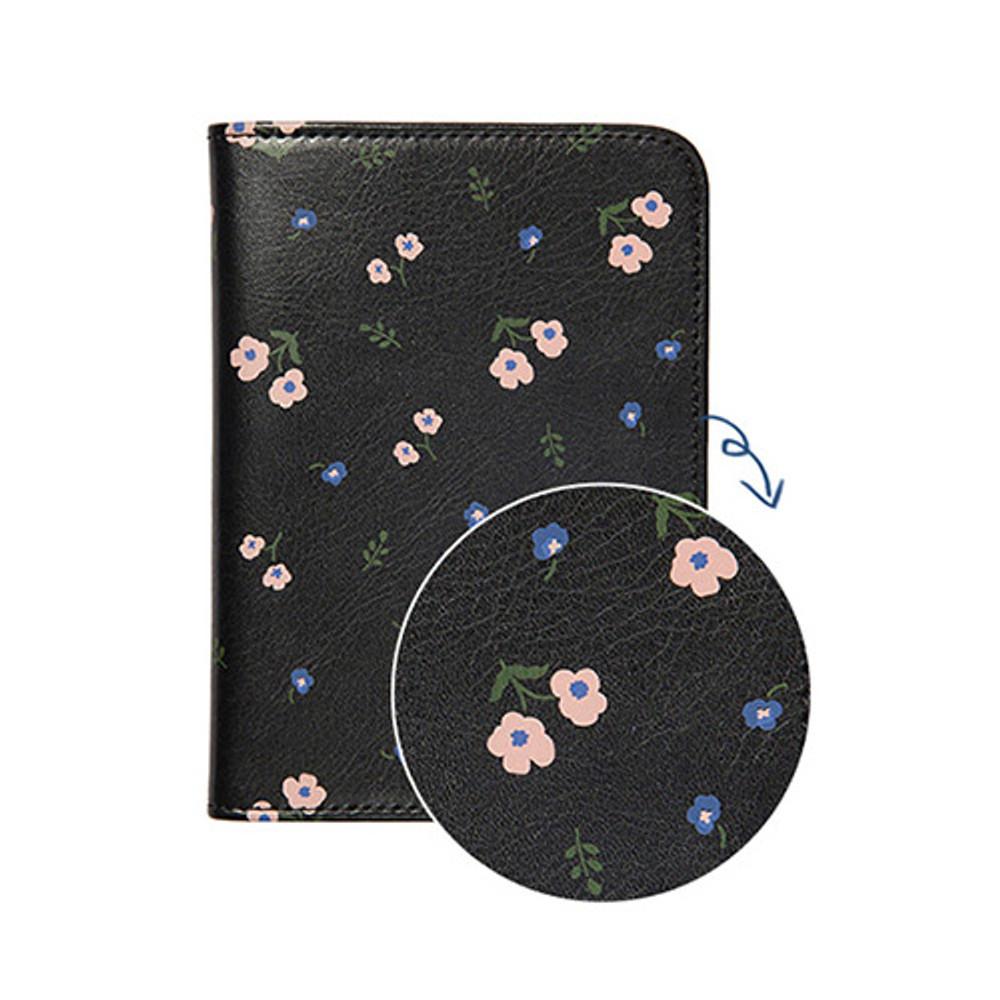 Black garden - Antenna shop Weekade botanical travel passport holder case