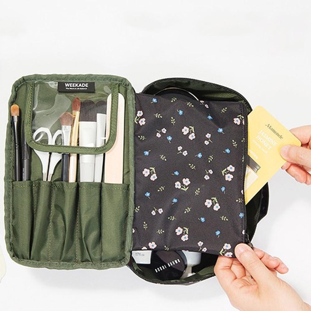 Antenna shop Weekade botanical cosmetic zipper pouch with handle