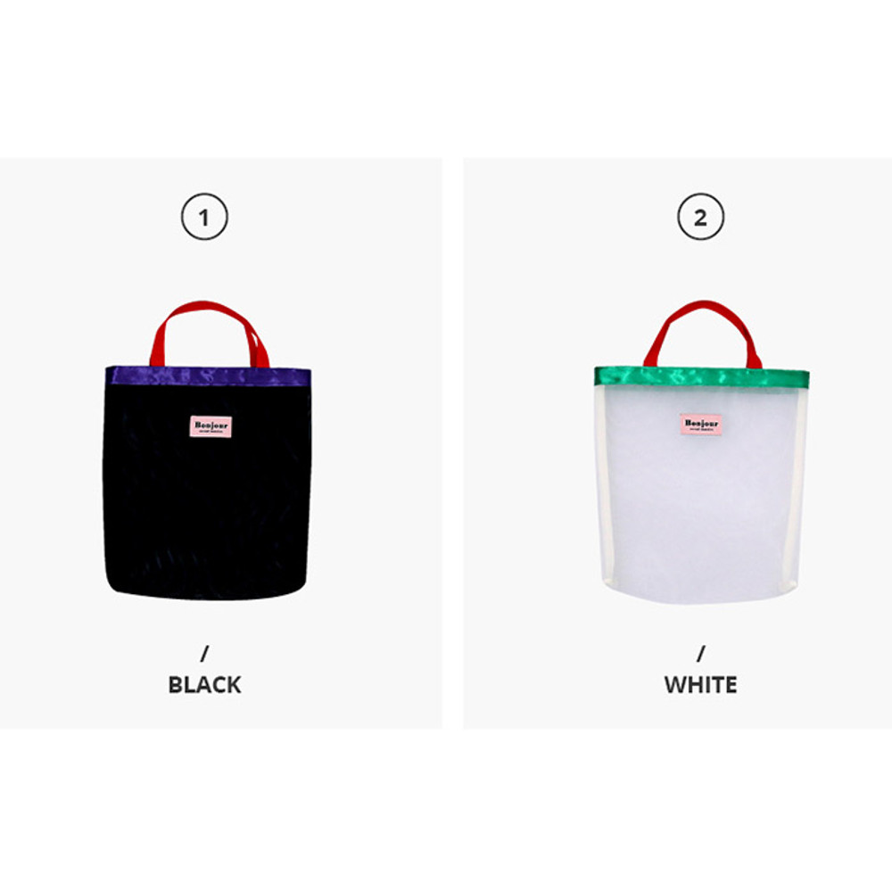 Color - Second Mansion Bonjour daily mesh tote bag