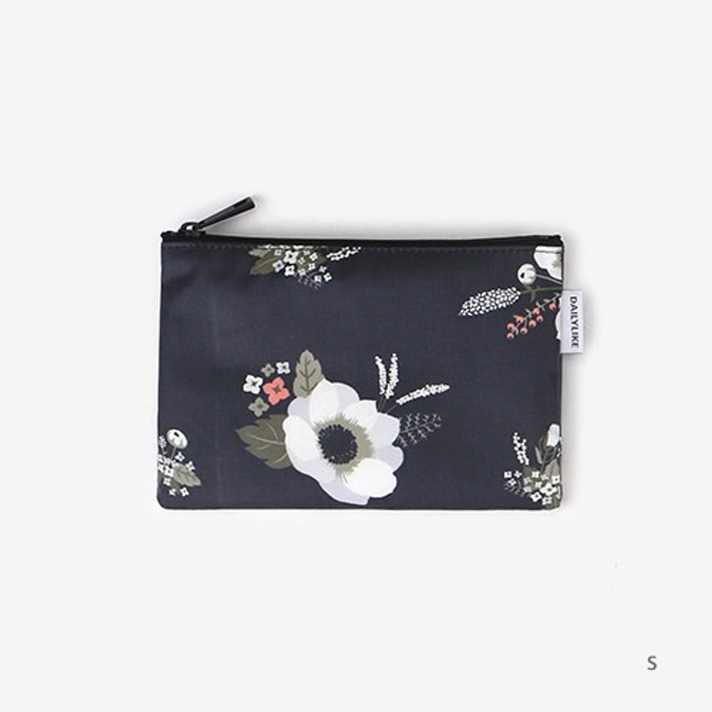 Small - Laminated cotton fabric zipper pouch - Evening bride