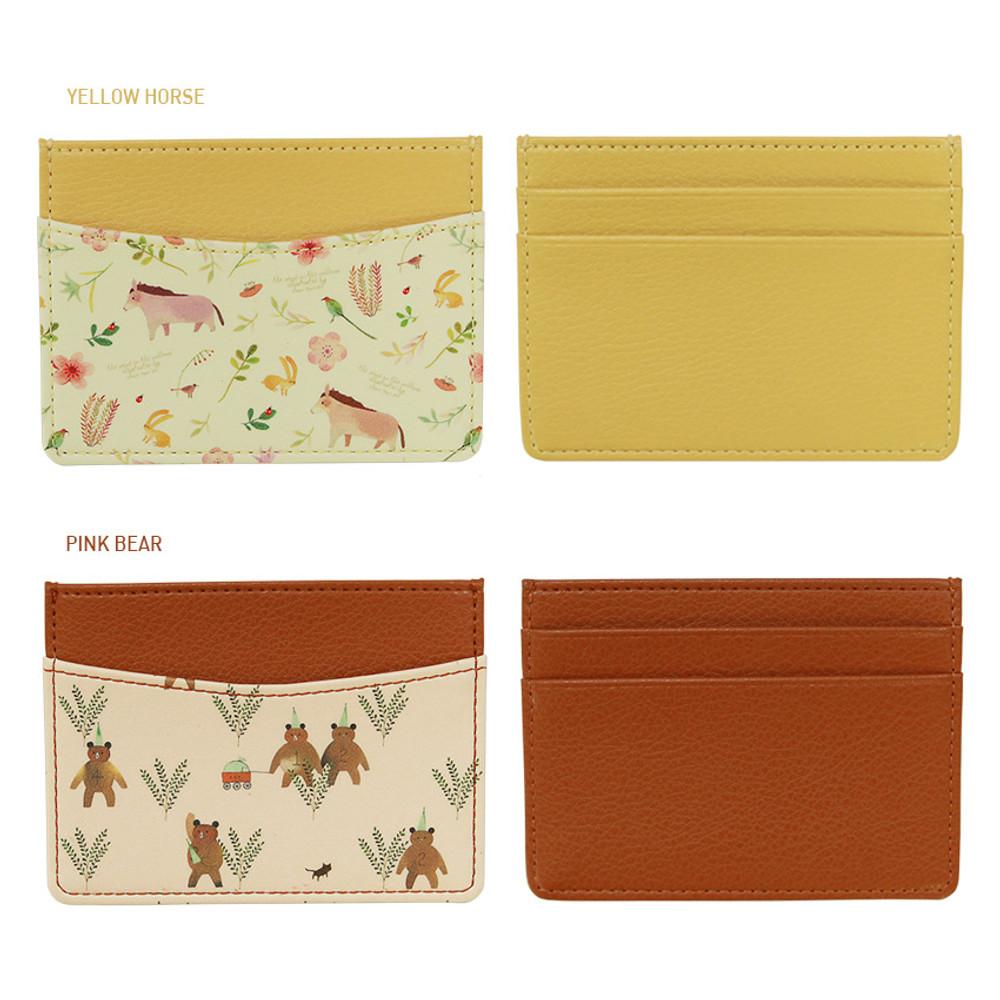 Option - Indigo Willow story pattern flat card case holder ver2