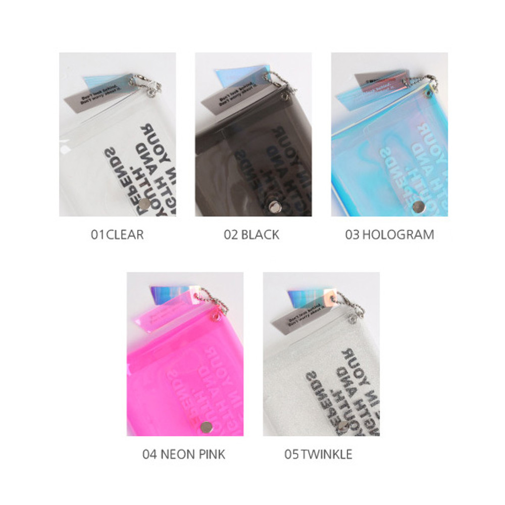 Option - Wanna This Clear pocket folding card case pouch