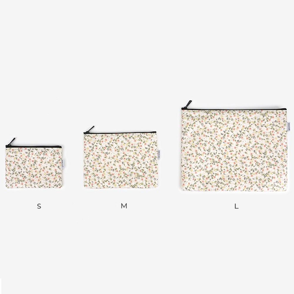 Size - Laminated cotton fabric zipper pouch - Citrus farm