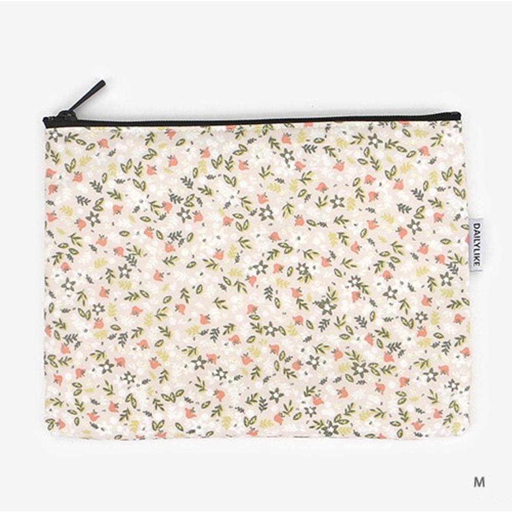 Medium - Laminated cotton fabric zipper pouch - Citrus farm