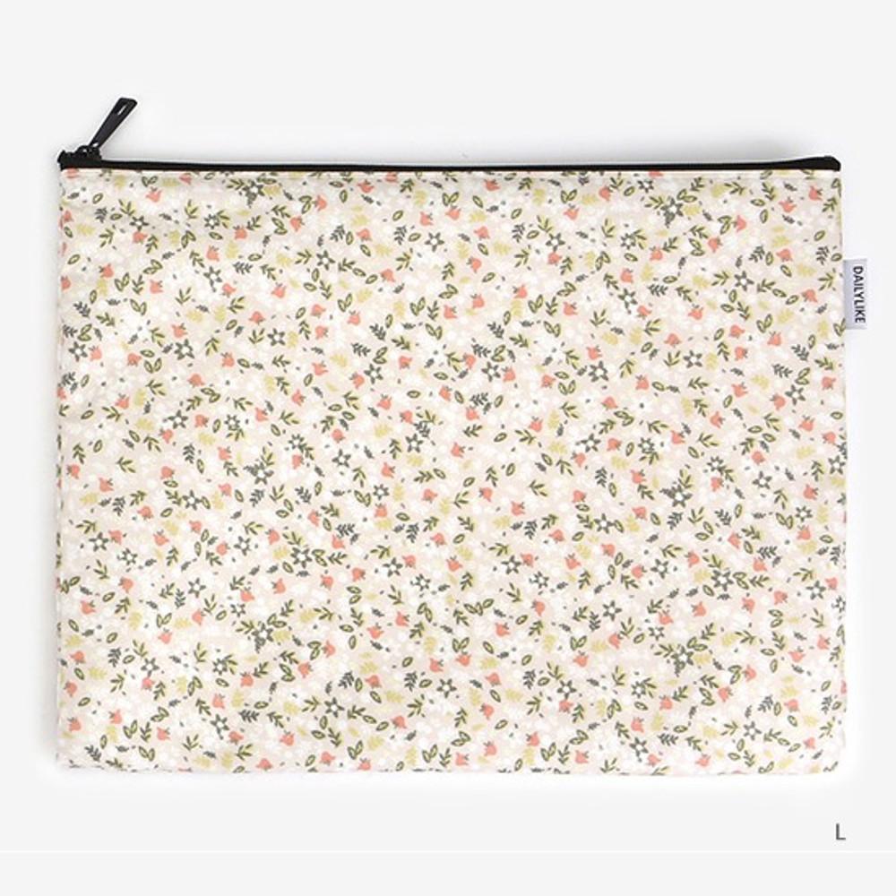 Large - Laminated cotton fabric zipper pouch - Citrus farm