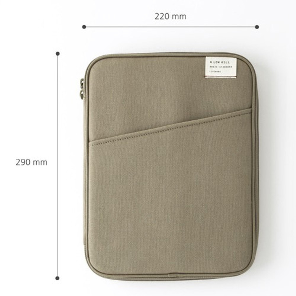 Size - A low hill standard pocket tablet iPad cotton pouch