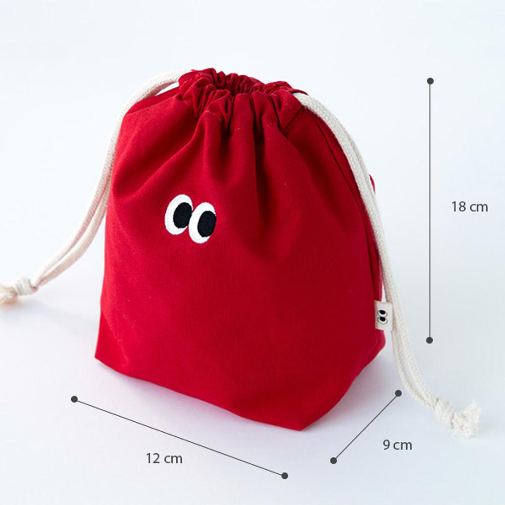 Size - Livework Som Som stitching drawstring pouch