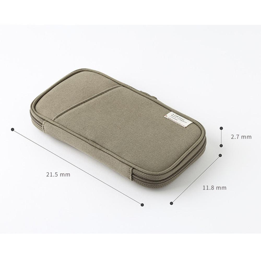 Size - A low hill standard pocket beauty brush cotton pouch