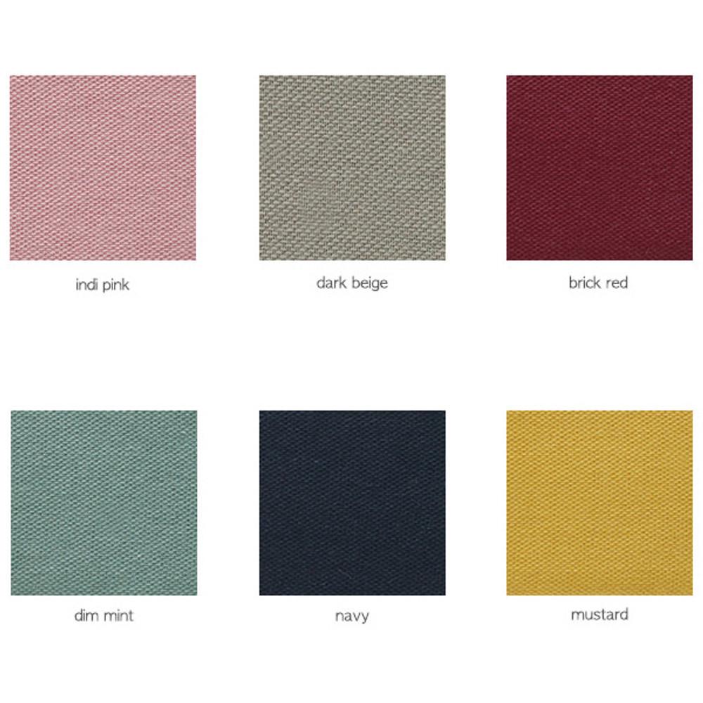 Color - A low hill standard pocket beauty brush cotton pouch