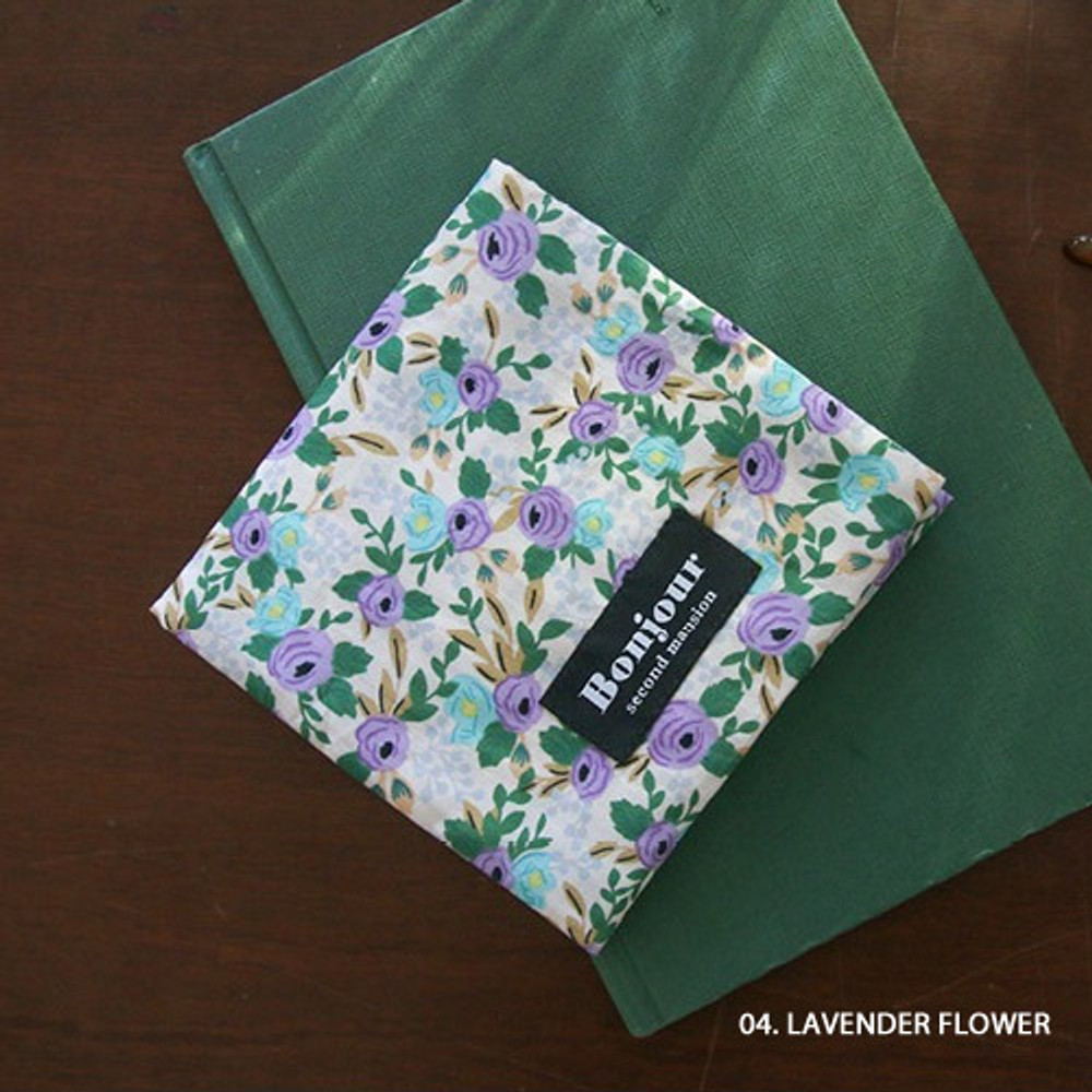 04 Lavender flower - pattern womens pad pouch cotton pouch