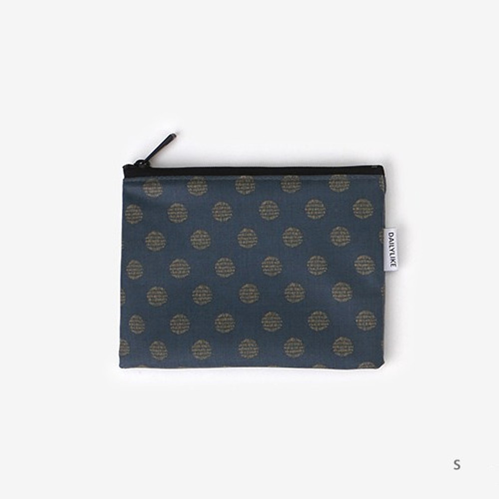 Small - Laminated cotton fabric zipper pouch - Full moon