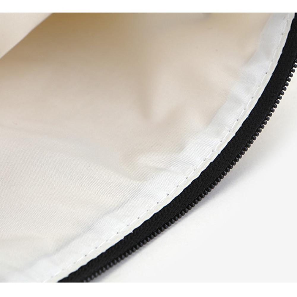 Dailylike Laminated cotton fabric zipper pouch - Full moon