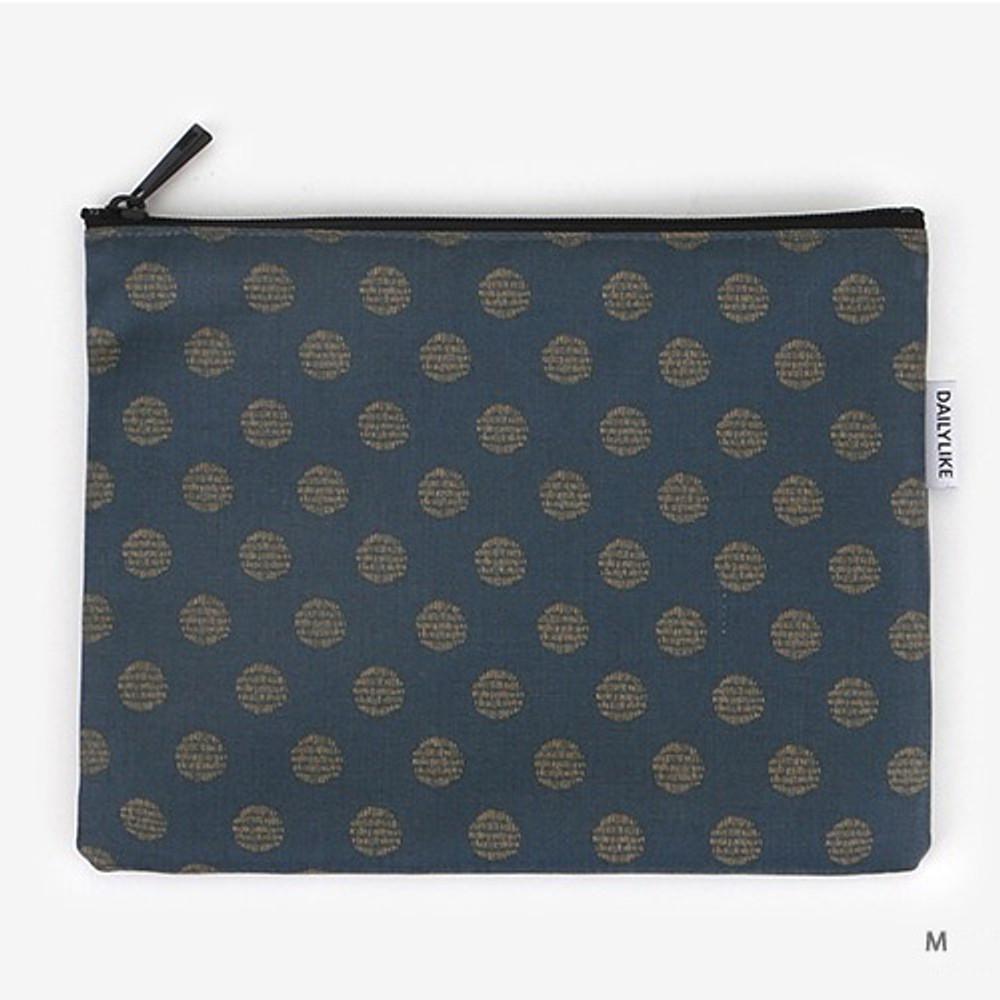 Medium - Laminated cotton fabric zipper pouch - Full moon