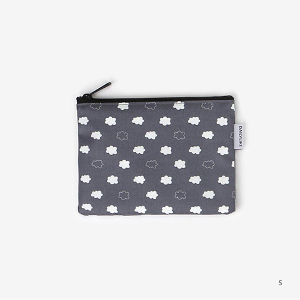 Small - Laminated cotton fabric zipper pouch - Skunk fart