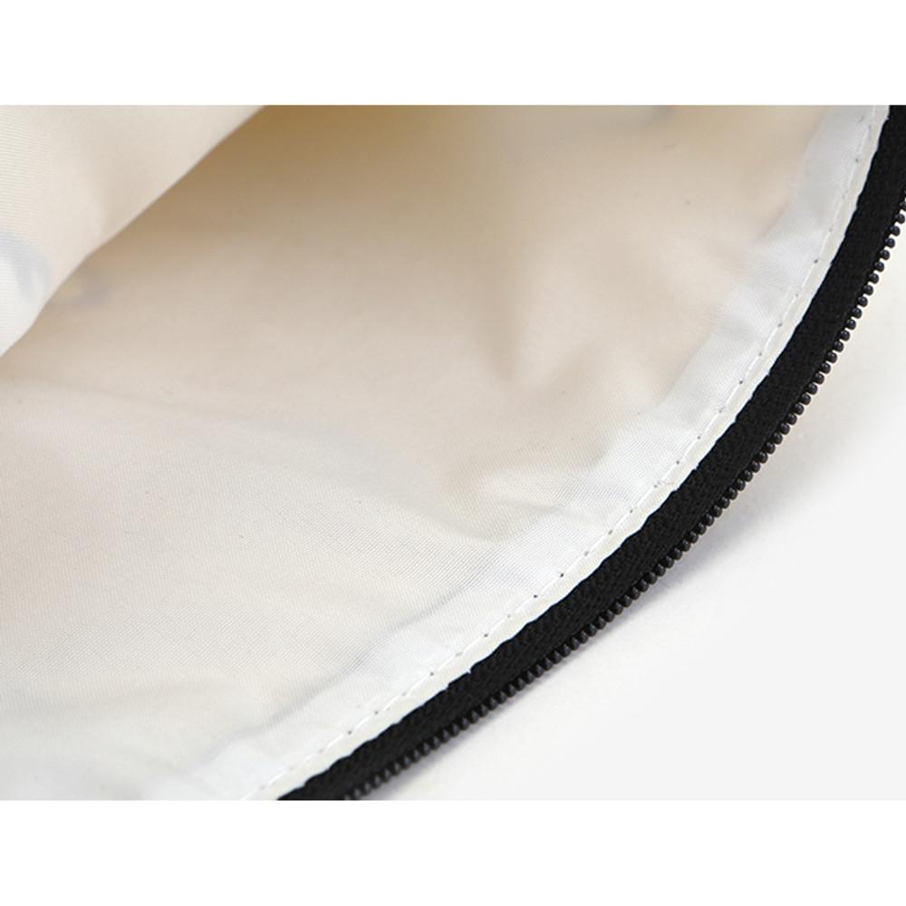 Dailylike Laminated cotton fabric zipper pouch - Persian cat