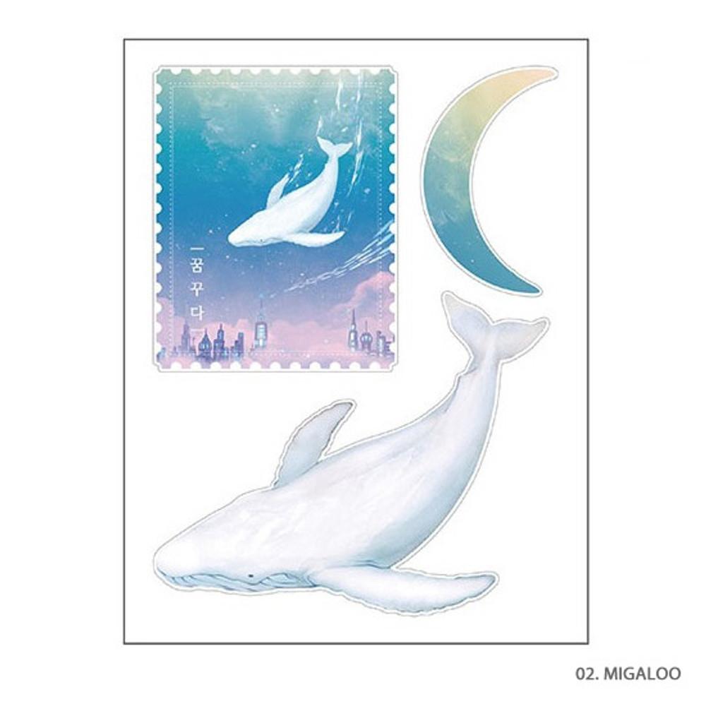 Migaloo - PLEPLE Dreaming travel deco sticker