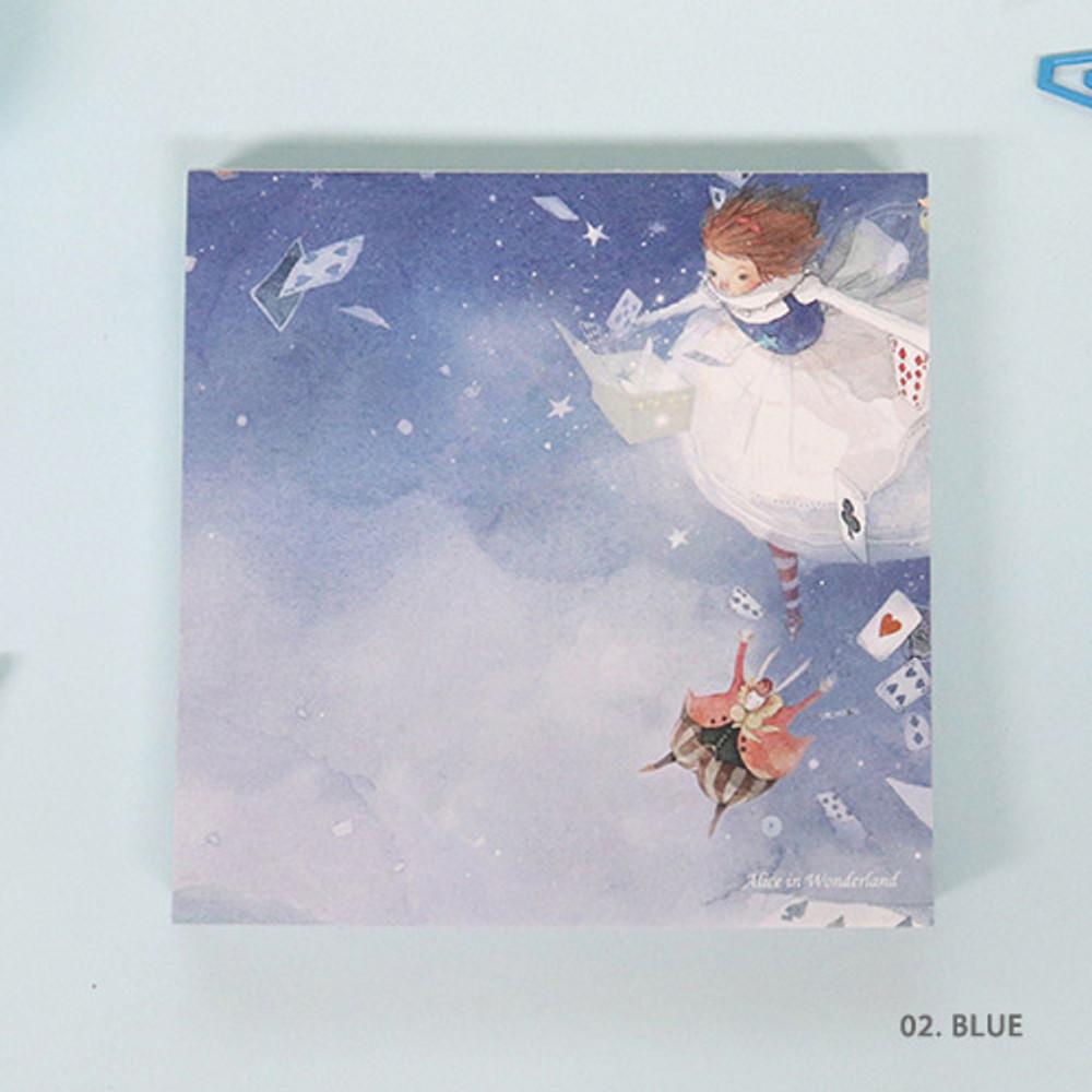 02. Blue - Indigo Classic story Alice memo notepad
