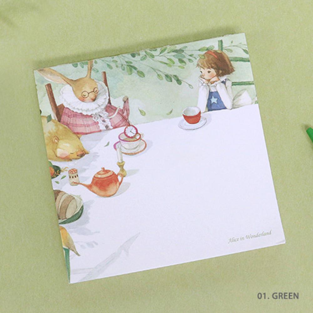 01. Green - Indigo Classic story Alice memo notepad