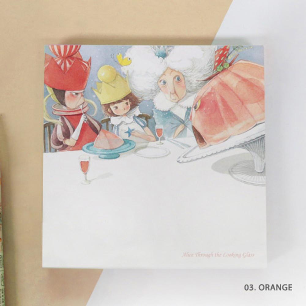 03 .Orange - Indigo Classic story Alice memo notepad