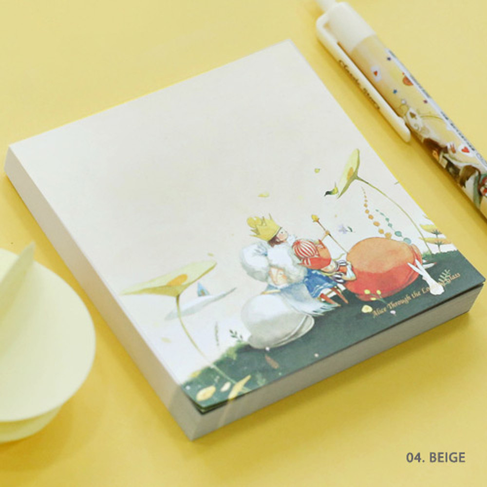 04. Beige - Indigo Classic story Alice memo notepad