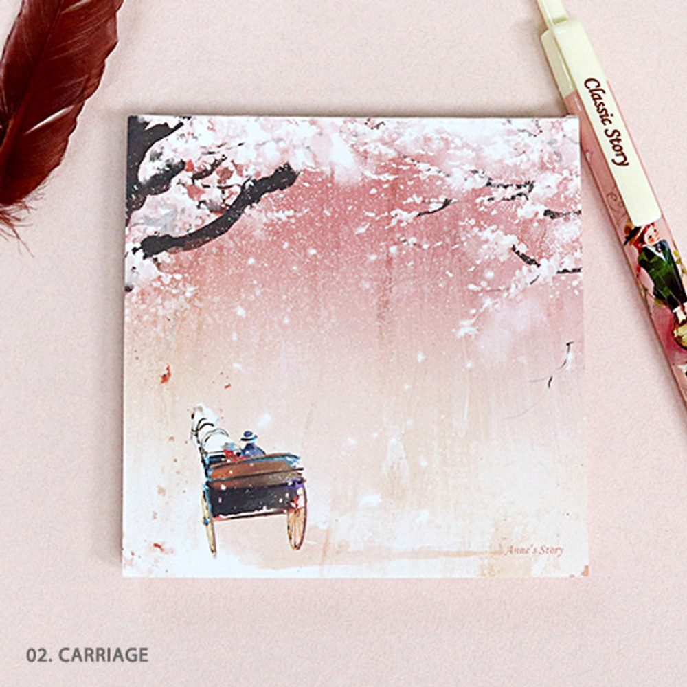 02. Carriage - Indigo Classic story Ann memo notepad