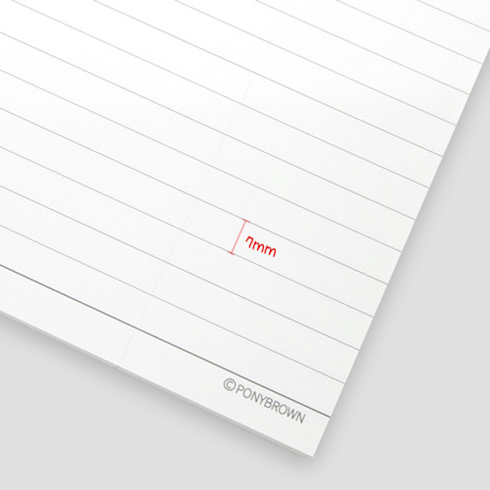 Line spacing 7mm - Cute illustration A5 spiral lined notebook