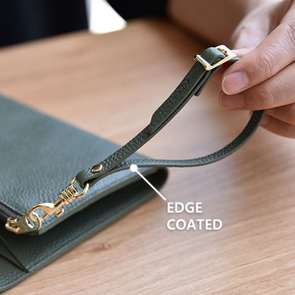 Edge coated - Allday genuine cowhide leather strap