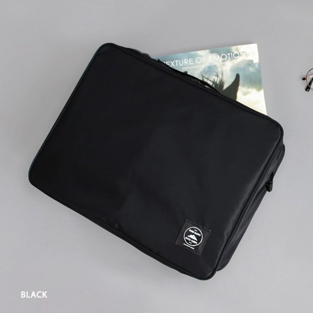 Black - Two way trunk travel organizer pouch bag