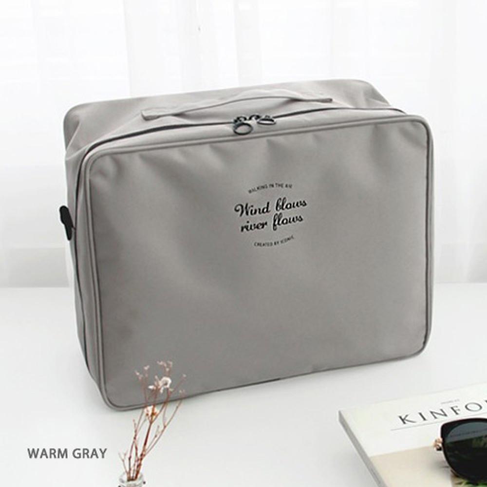 Warm gray - Two way trunk travel organizer pouch bag