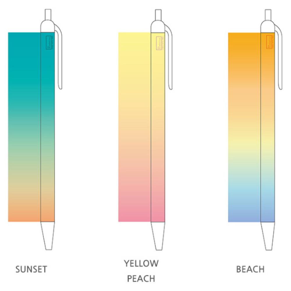 Option - Gradation knock black ink 0.38 mm ballpoint pen