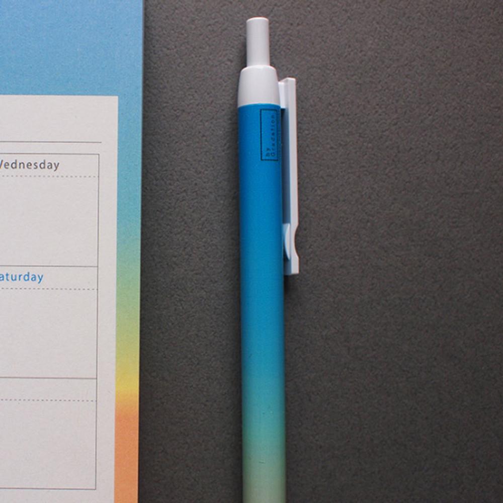 Sunset - Gradation knock black ink 0.38 mm ballpoint pen