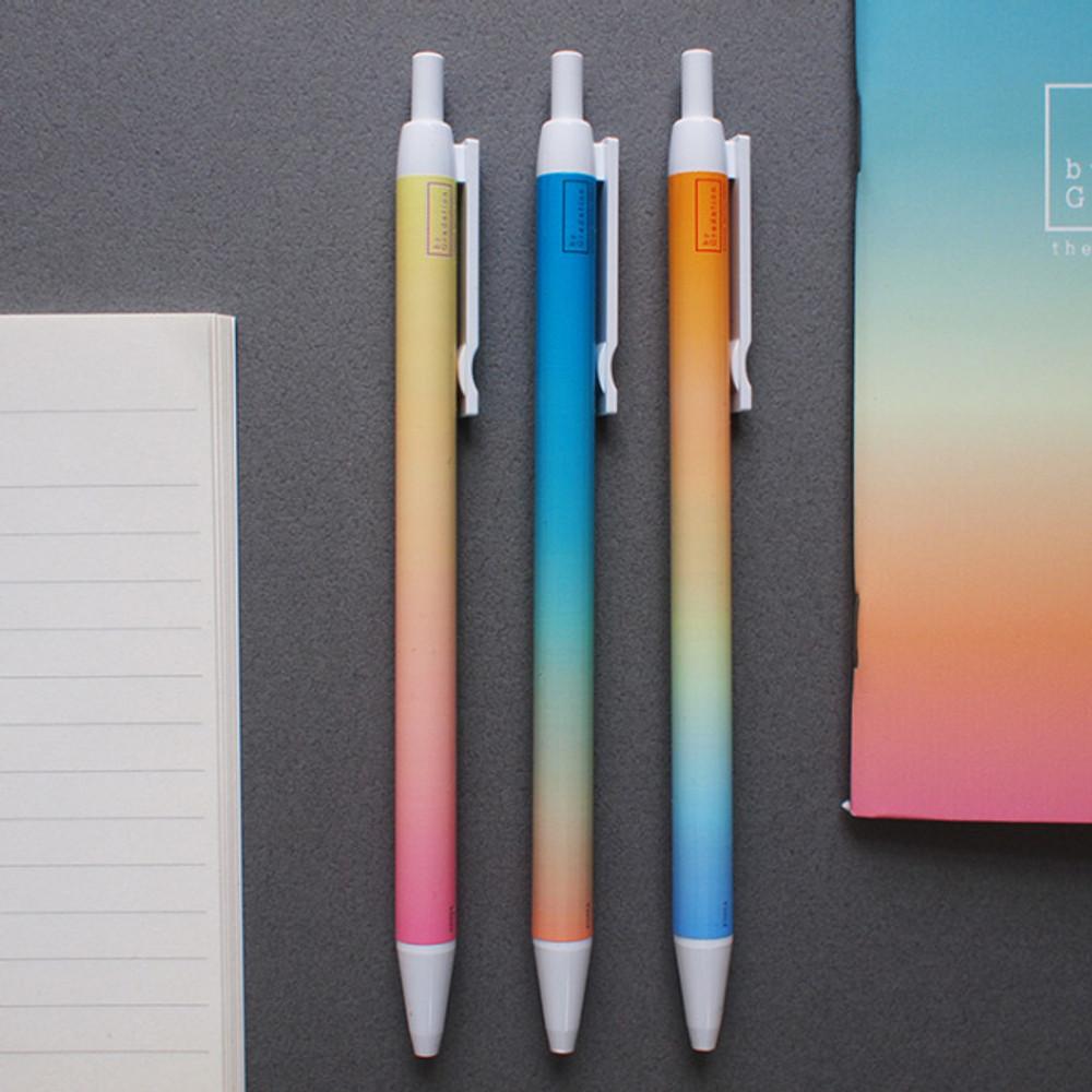 Hello Today Gradation knock black ink 0.38 mm ballpoint pen