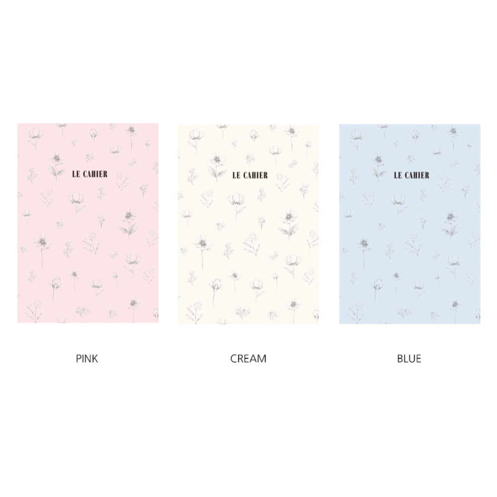 Color - O-check Le cahier floral medium dot grid notebook