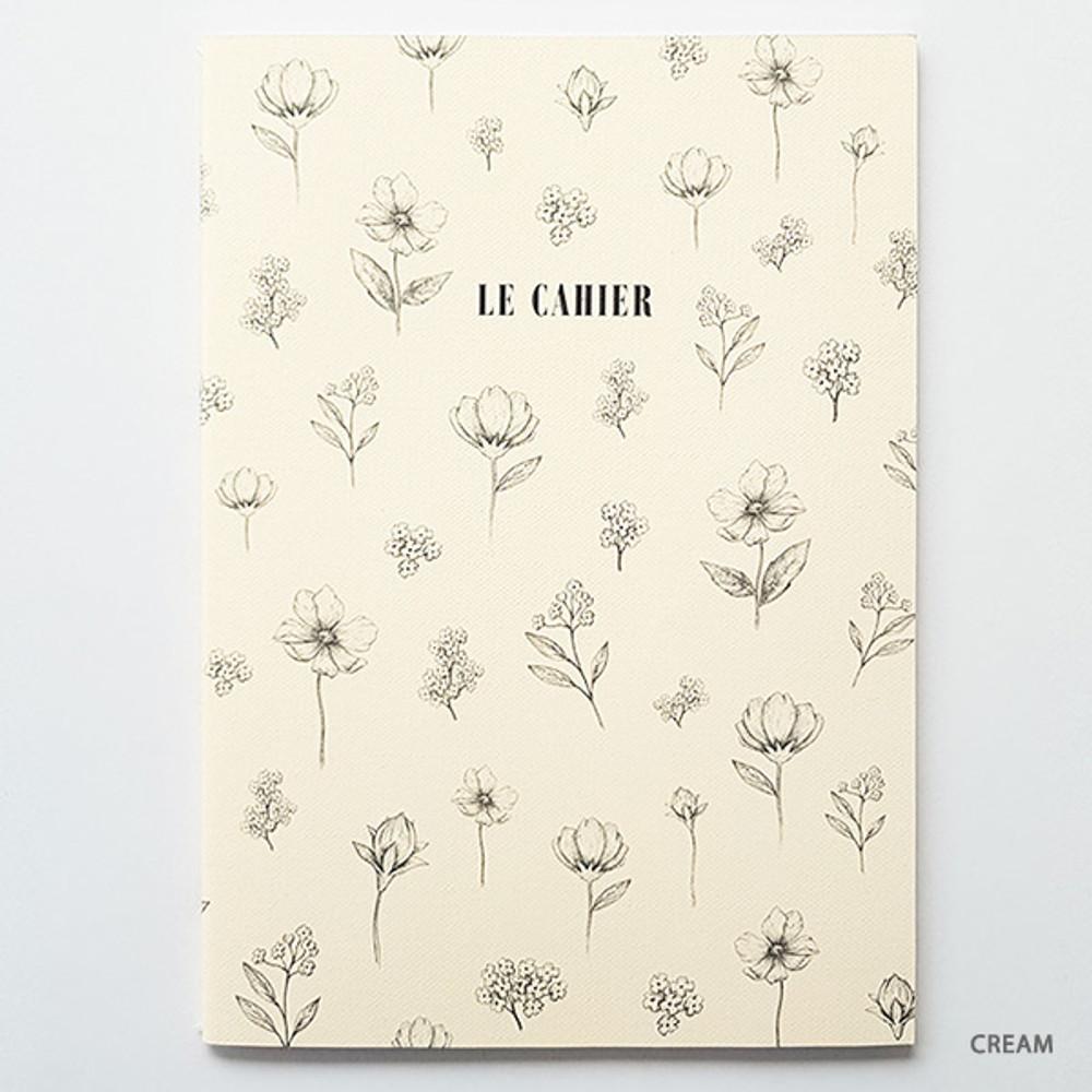 Cream - O-check Le cahier floral medium dot grid notebook