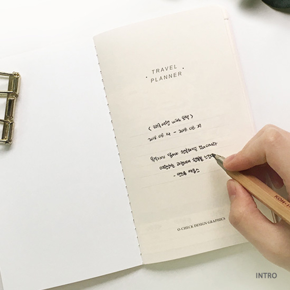 Intro - O-check Light travel daily planner notebook