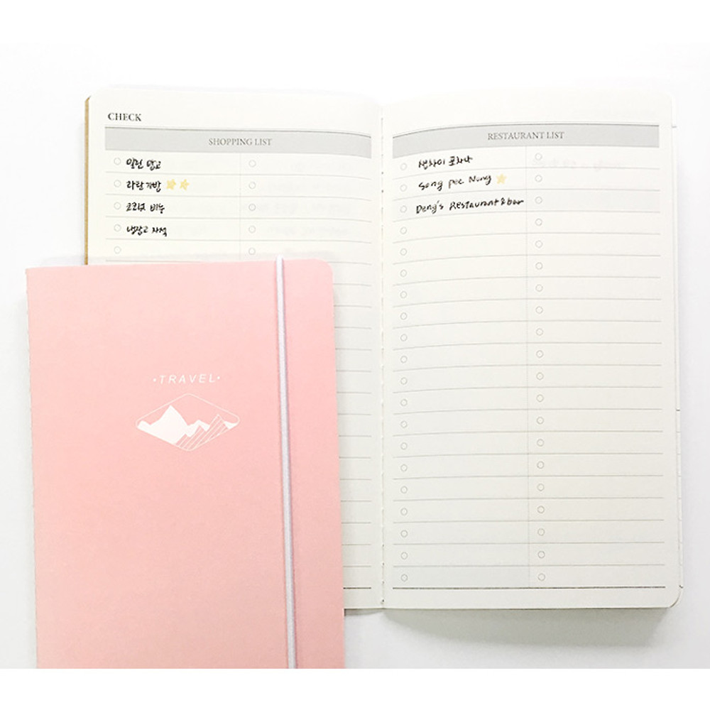 Shopping list - O-check Light travel daily planner notebook