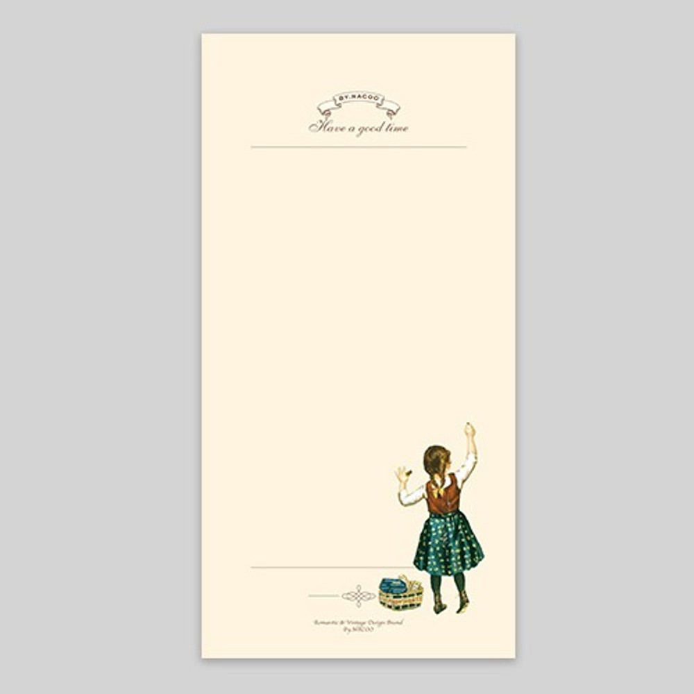 NACOO Have a good time girl plain notepad