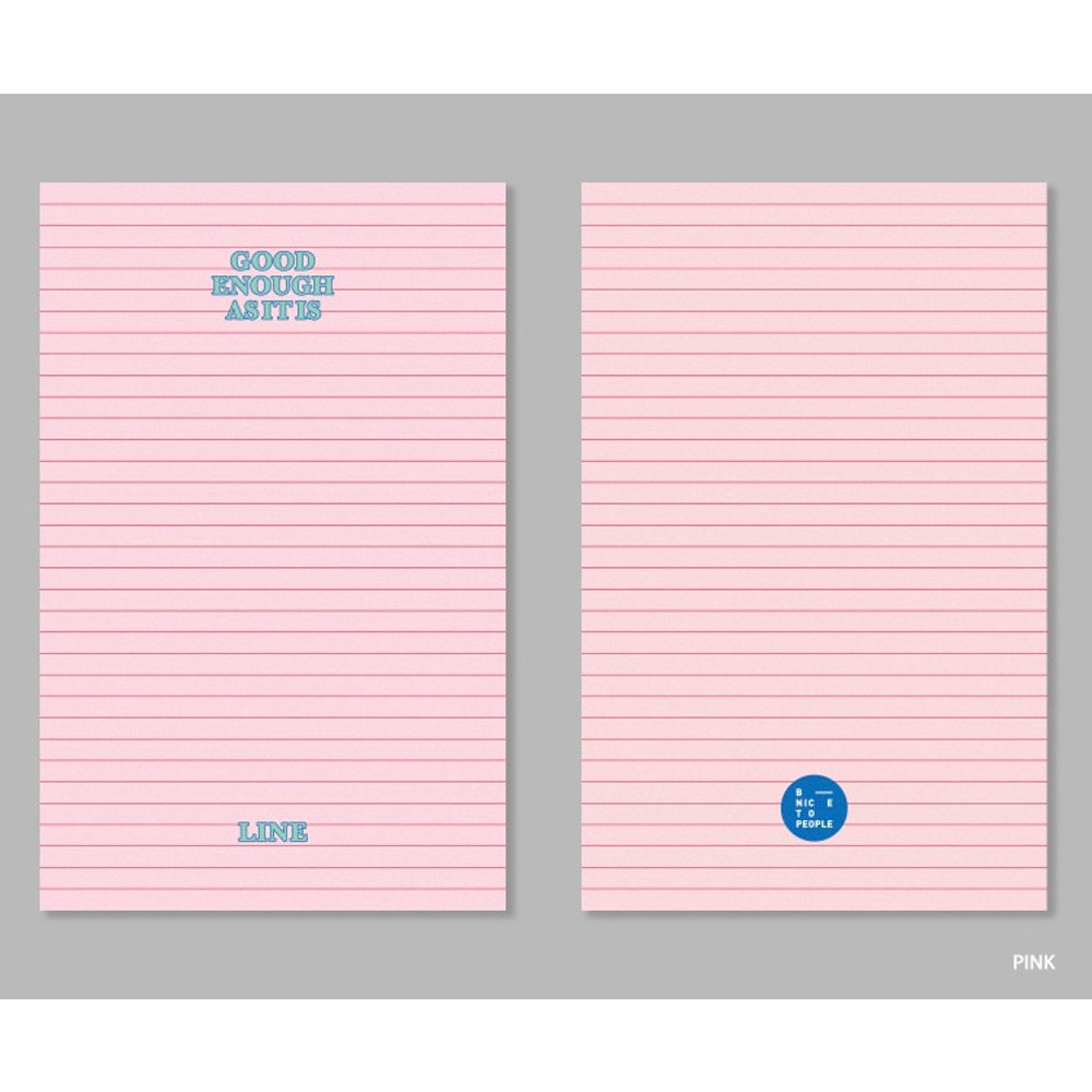 Pink - bookmark large notebook
