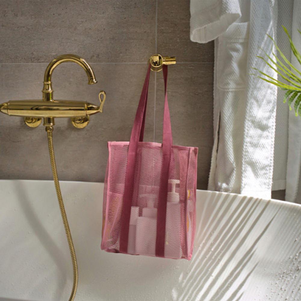 Indi pink - Travelus mesh shoulder tote travel bag