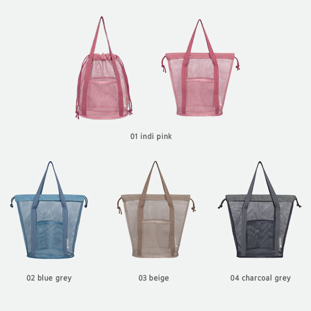 Color - Byfulldesign Travelus mesh bucket tote travel bag