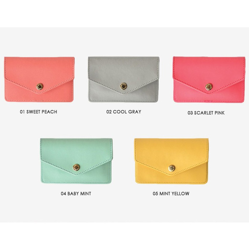 Color - Lovelyborn synthetic leather card case holder
