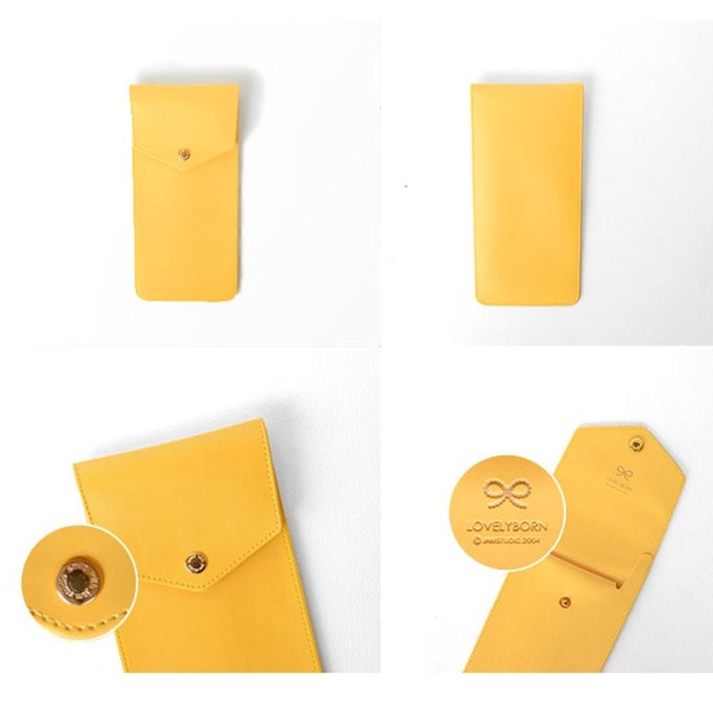 Jam studio Lovelyborn synthetic leather pocket pencil case