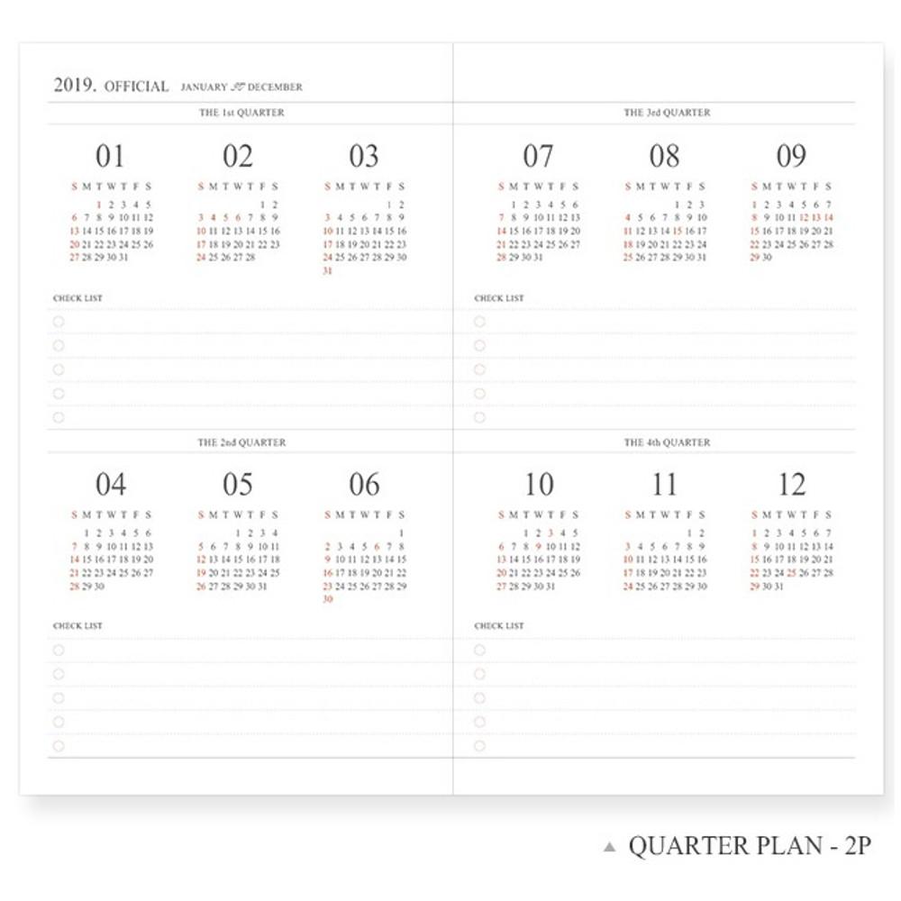 Quarter plan